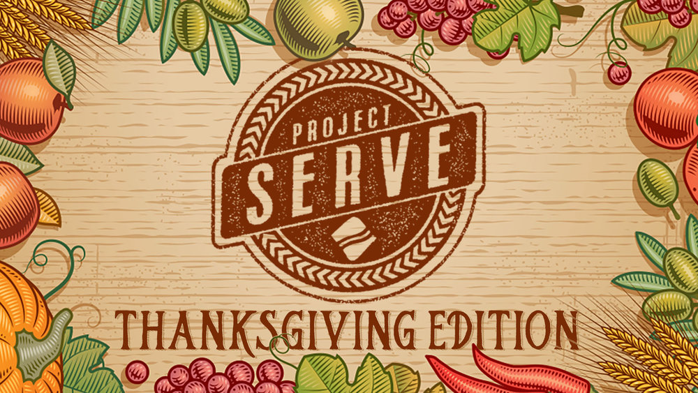 Serve Local Families - NOVEMBER 10 // 8:30 AMFRISCO WEST OR MCKINNEYJoin us as we pack all the fixings for Thanksgiving meals for families all across the Metroplex. All ages are welcome to participate!We'll assemble the boxes, write cards of encouragement and seal up the packages. Leaders are definitely needed to help set up and lead tables, this will include serving that Friday night as well.Can't attend but still want to help? You can also help a family enjoy a turkey! Purchase a $10-$25 gift card for any grocery store and place in the big turkey in the lobby!!