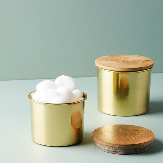 Gold Reflection Canister Set