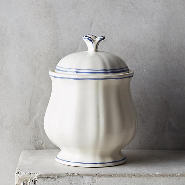 Gien Filet Bleu Sugar Bowl