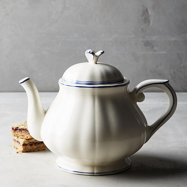 Gien Filet Bleu Teapot