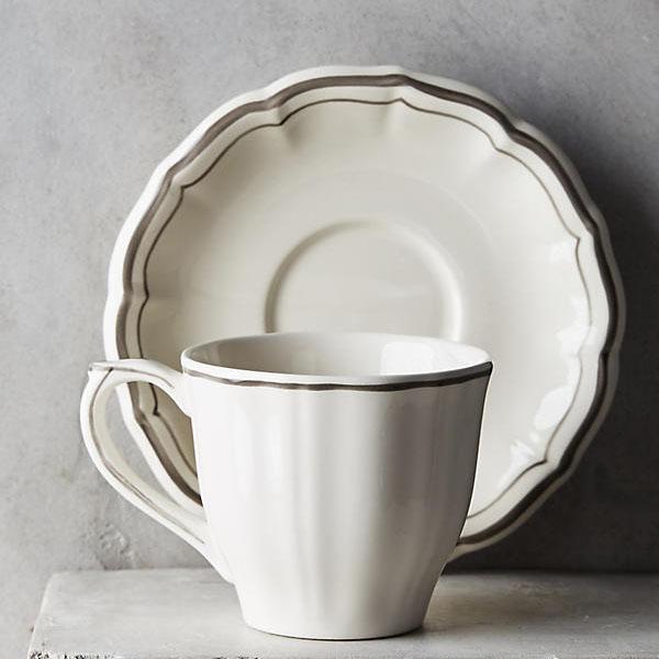 Gien Filet Bleu Cup & Saucer