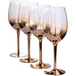 Gold Ombre Wine Glasses