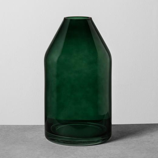 Dark Green Glass Vase