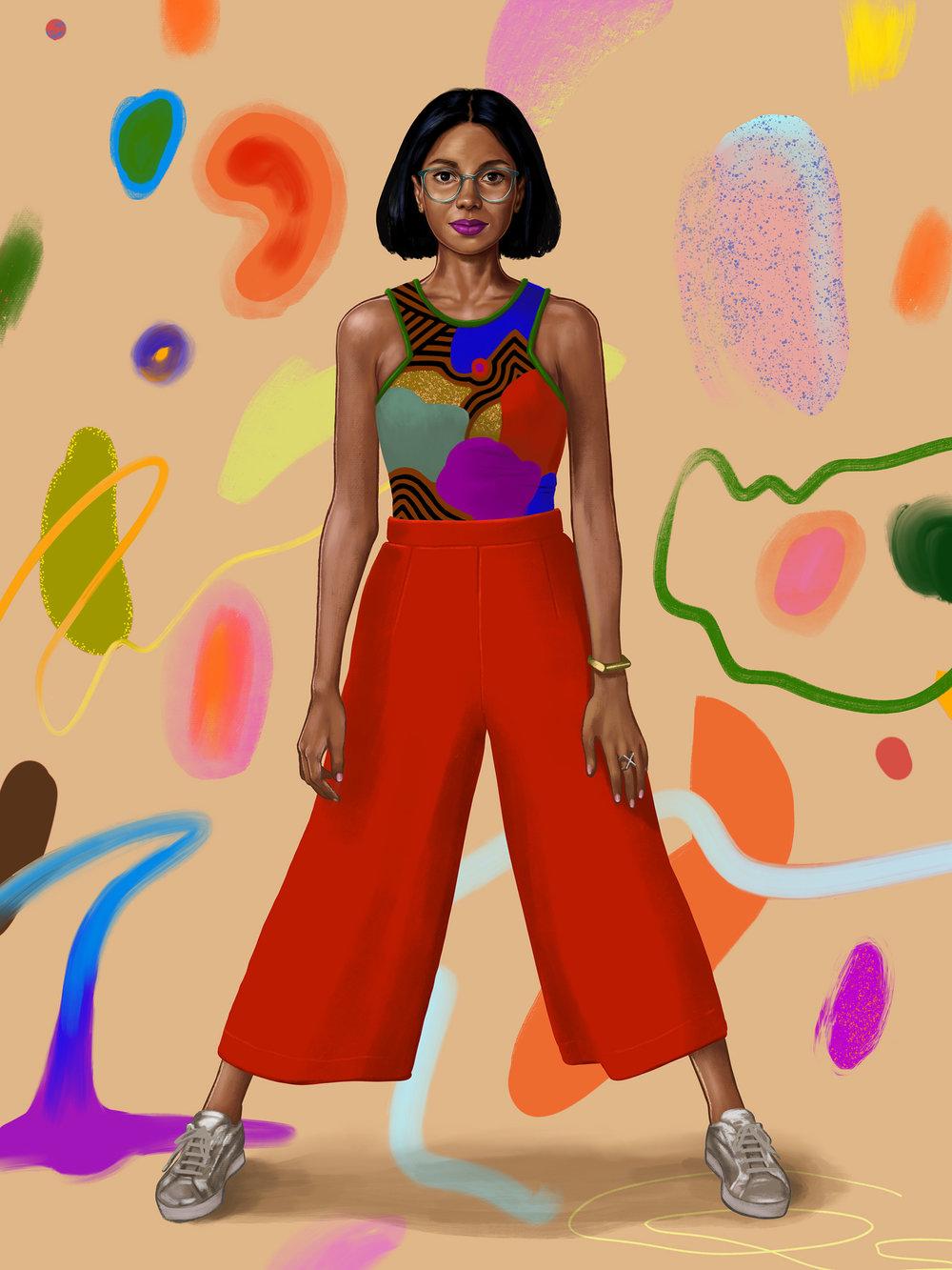 Self Portrait,  Digital Painting done on Procreate App for iPad Pro, Image Via Shyama Golden
