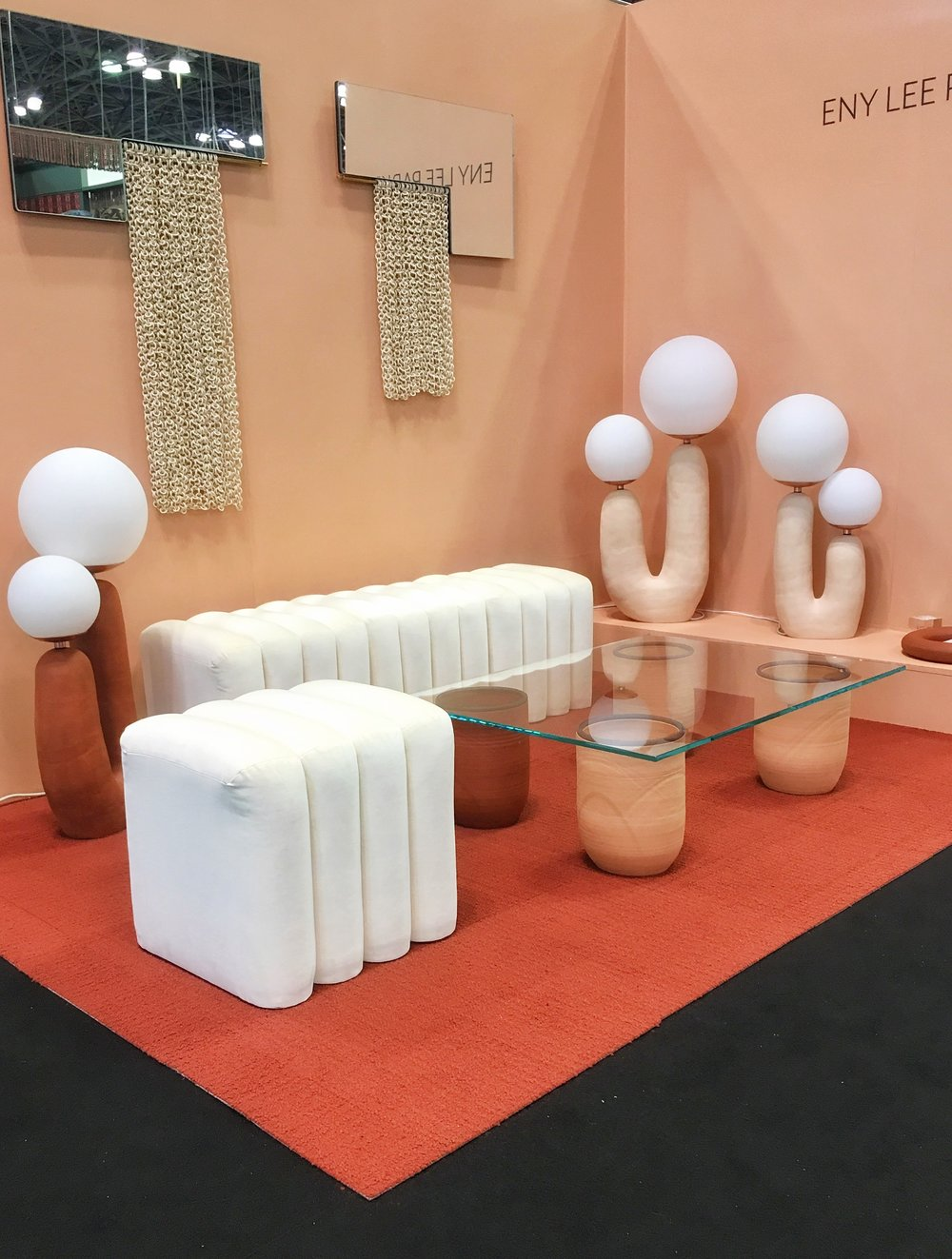 Photo of  Eny Lee Parker's  cosmetic palette booth, ICFF, New York 2018