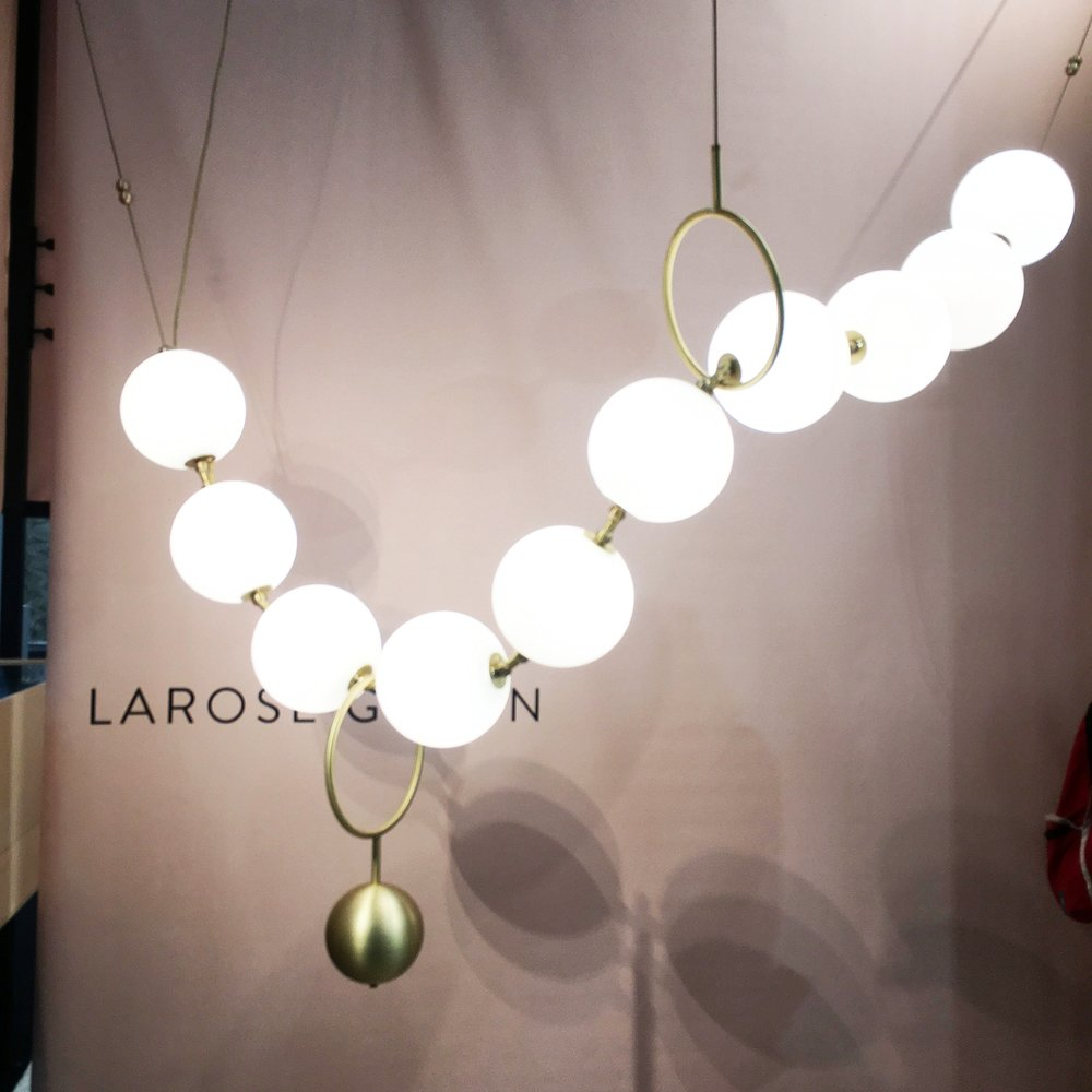 Photo of Larose Guyon's String of pearls, the COCO light, ICFF, New York 2018