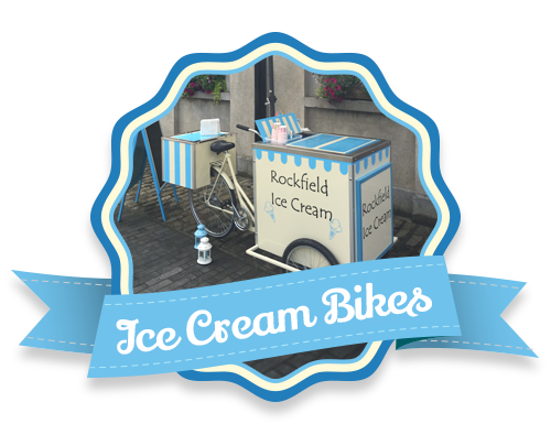 Vintage Styled Ice Cream Bikes