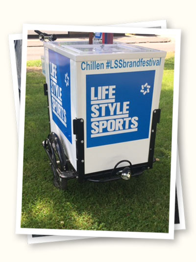 Ice cream cart at a corporate event