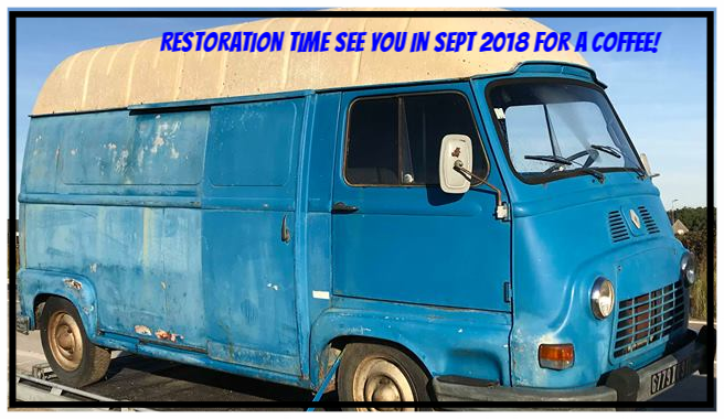 Vintage Renault Estafette off for full restoration