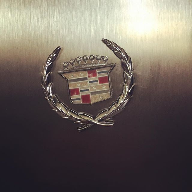Add some #cadillacstyle to your fridge!  #forsale #magnet #fridgemagnet #vintage #vintageauto #cadillac #hoodornament #detroitmade #upcycled #salvaged