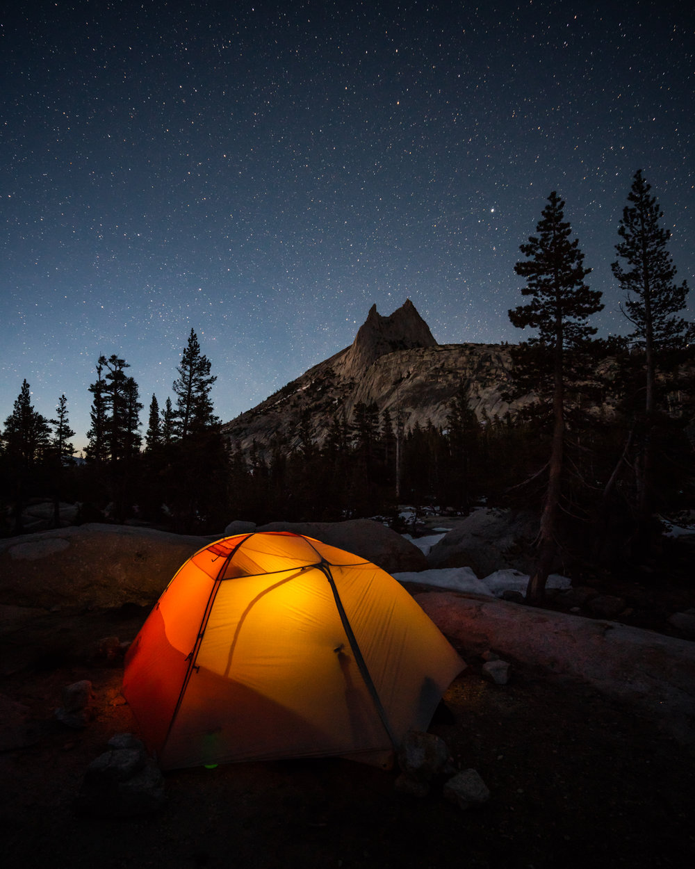 Scott Kranz Yosemite High Country Cathedral Lakes Camp Night