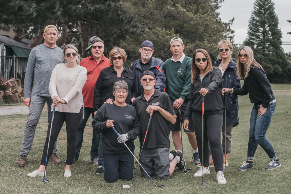 To celebrate Bruce and April, our team went golfing!