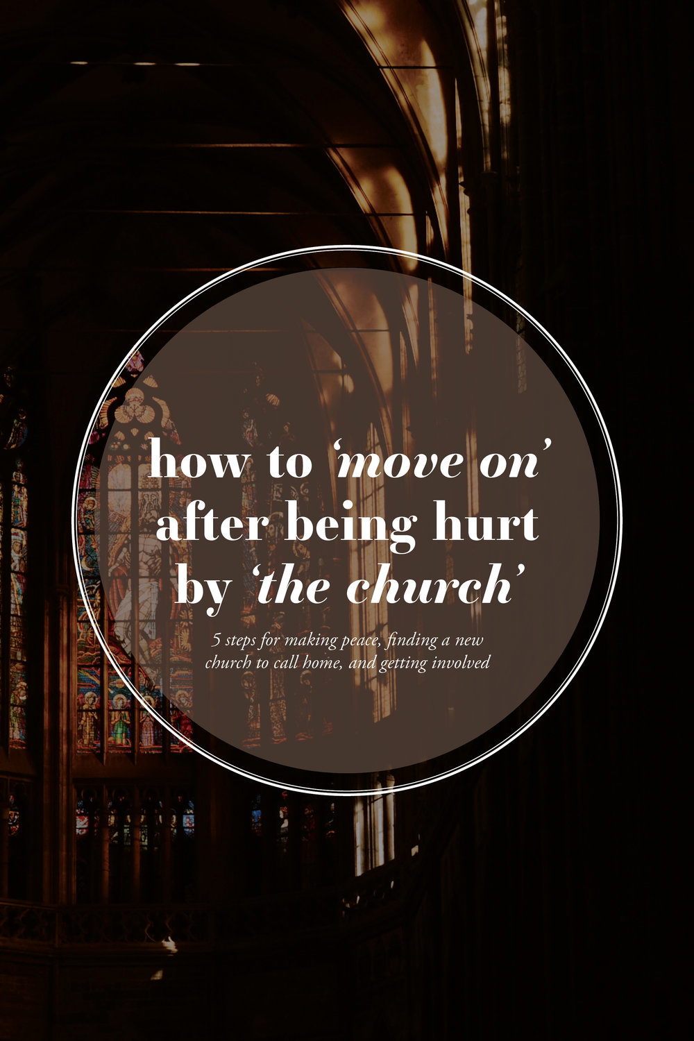 What to do when you get hurt by the church