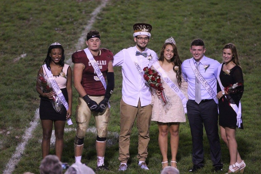 Moriah being awarded Homecoming Queen during her senior year.