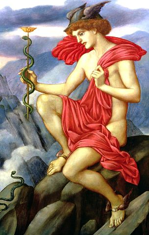 """Mercury"" by Evelyn de Morgan"