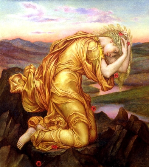 "Evelyn de Morgan ""Demeter Mourning for Persephone"" 1906"