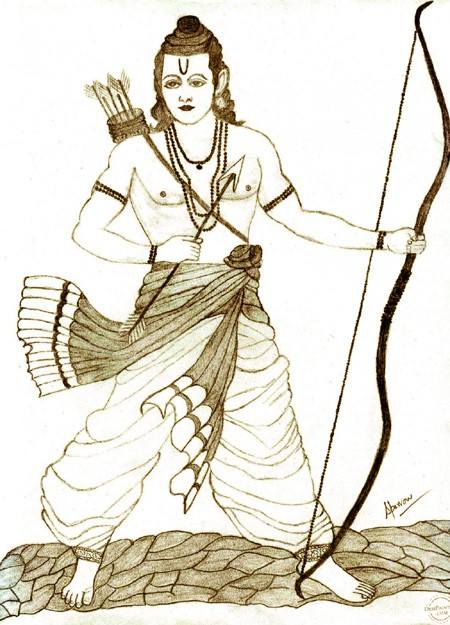 """Lord Ram with Bow"""