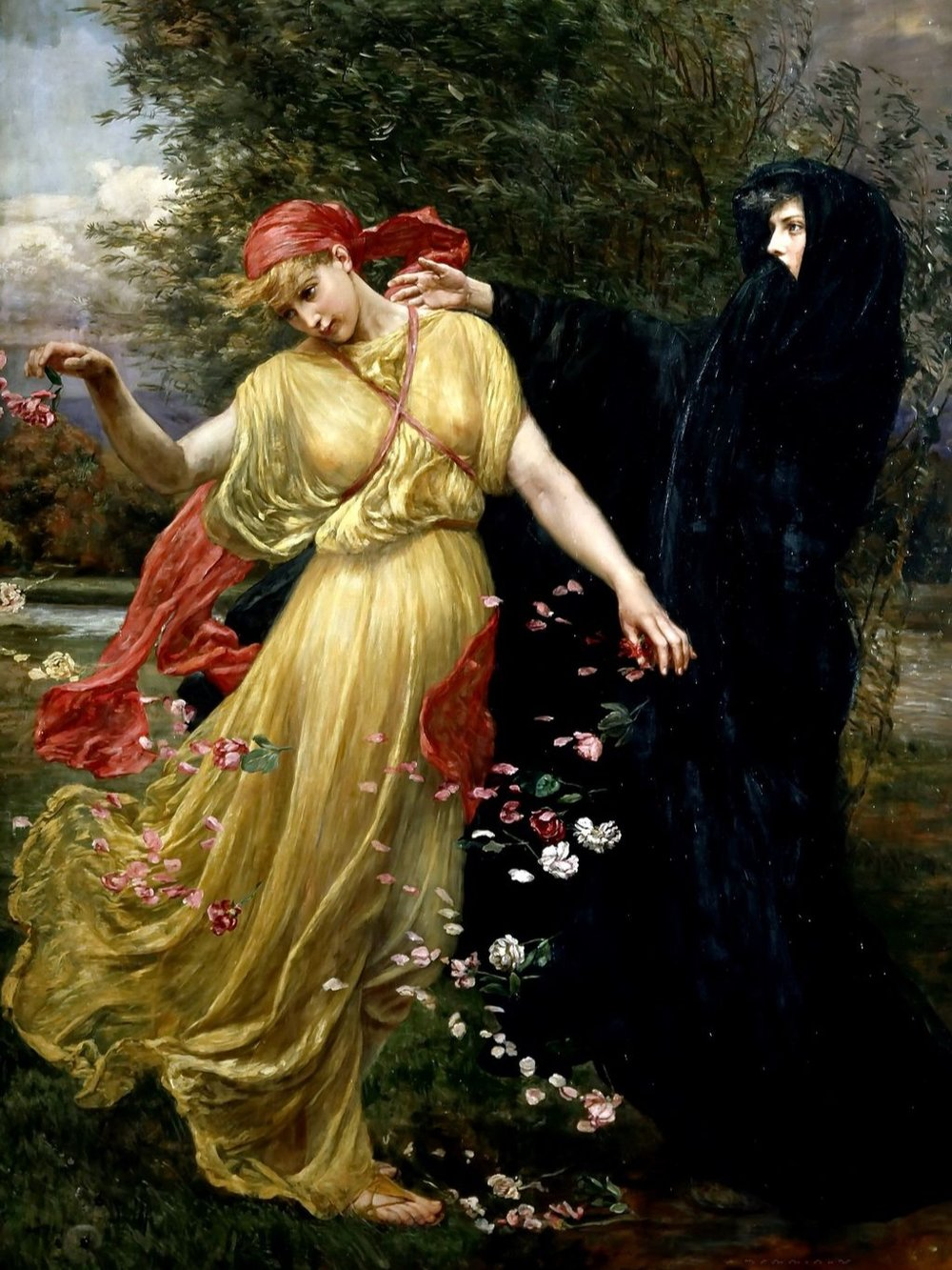 At the first touch of Winter, Summer fades away by Valentine Cameron Prinsep (1897)