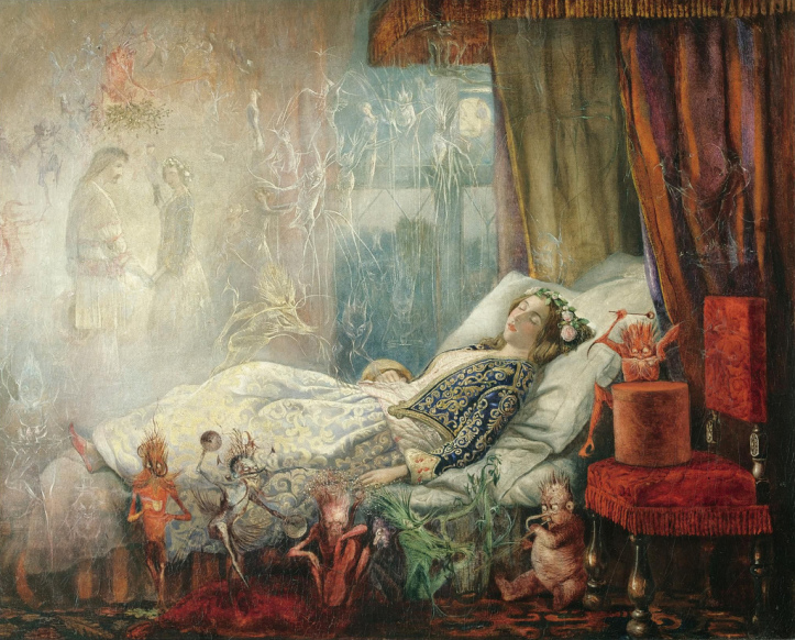 The Stuff that Dreams are Made of by John Anster Fitzgerald (1858)