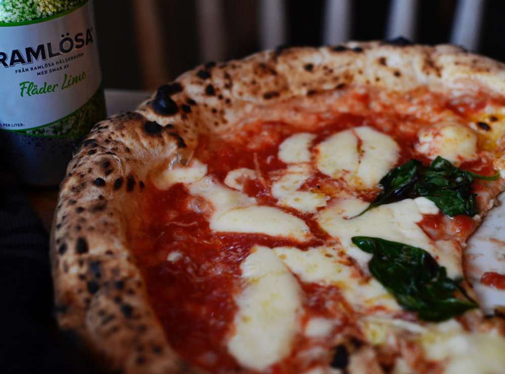 Margherita på Lilla Napoli i Falkenberg, MVG i pizza.