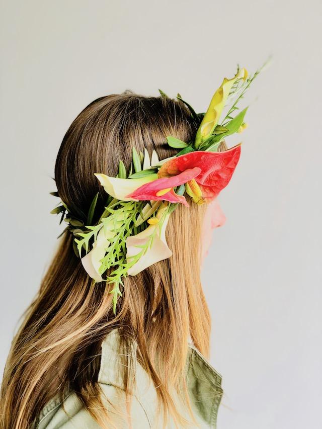 Petalfox Flamingo Flower Crown