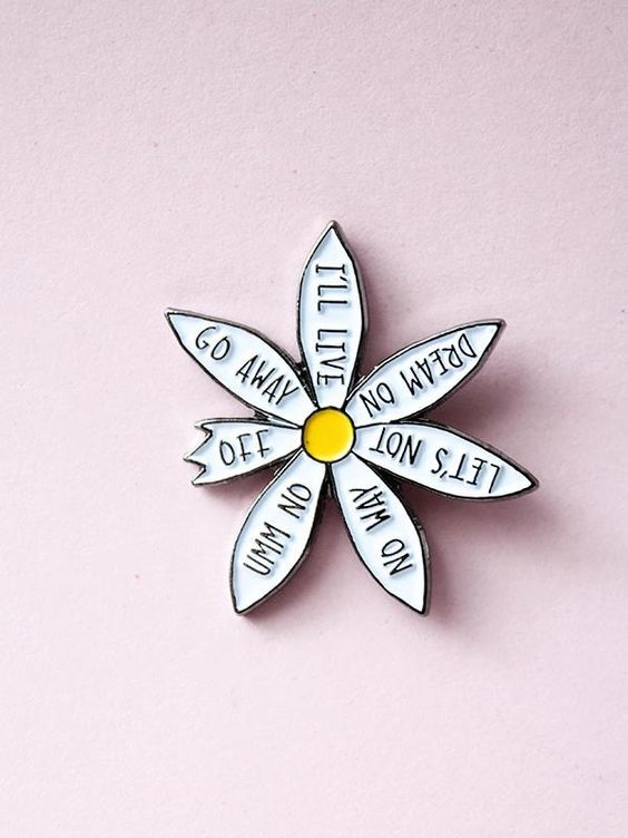 Shop this  petal pickin Daisy pin  by Edge of Urge