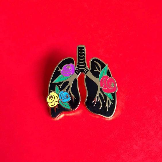 Shop this  Lungs and Roses pin  by Brat Box
