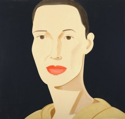 Alex Katz brings you in  Lines you up  And then the conversation is short and sweet    the rest is for the painting.   Alex Katz  Ulla, 2009 Oil on Linen, 60 x 84 in Timothy Taylor Gallery