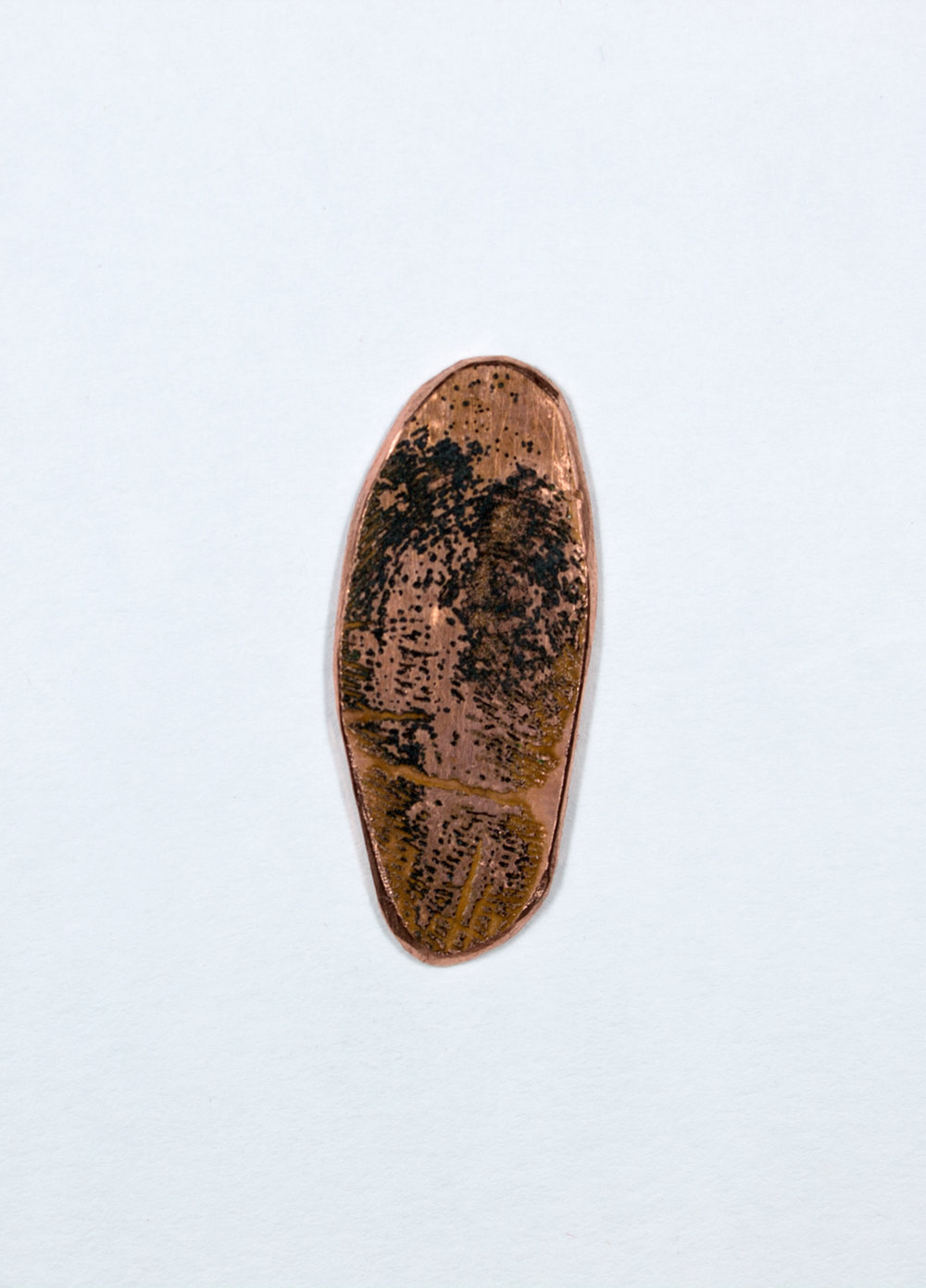Etched Copper Plate of Finger Print 1