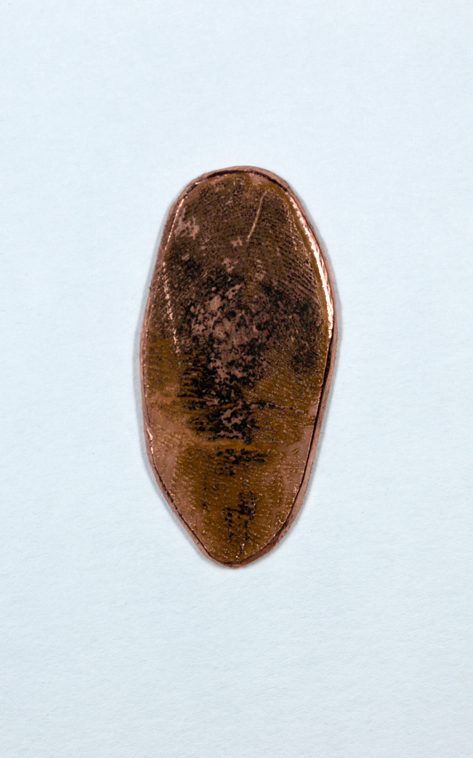 Etched Copper Plate of Finger Print 3