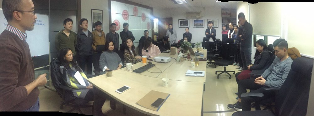 Our HONG KONG and GUANGZHOU teams together in the Guangzhou office