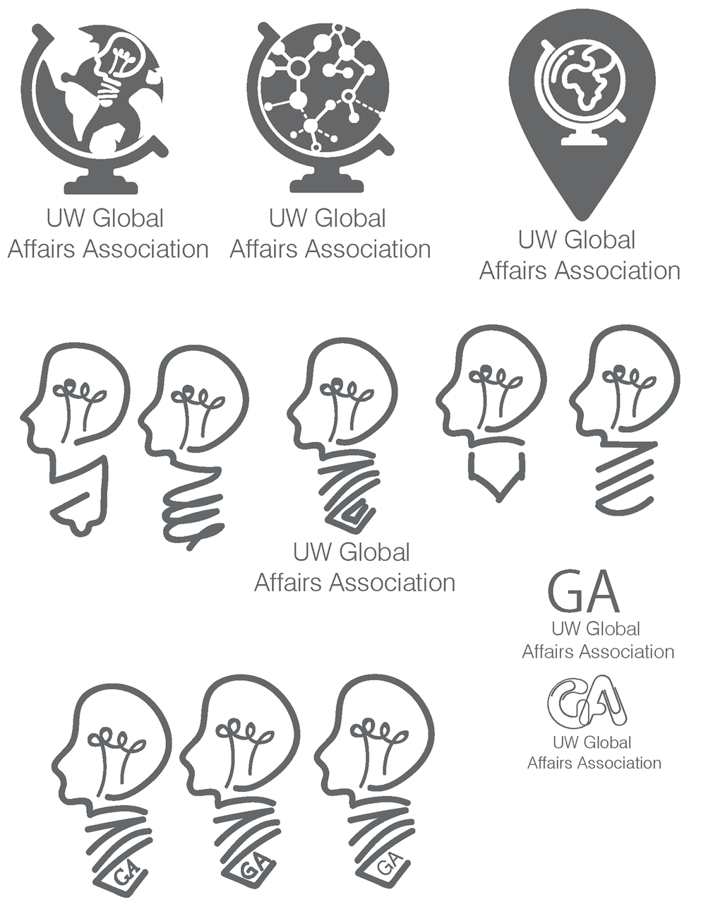 UW Global Affair logo ideas