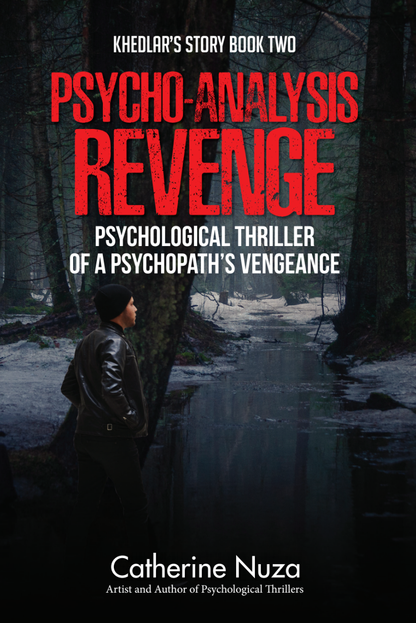 The second novel in my trilogy... Revenge   BLURB:   What emotion is left once the heart and mind stops caring? Khedlar has an unquenchable thirst for revenge and will stop at nothing to punish those responsible for the murder of his wife and child. No one is safe in his psychopathic path, not even himself. In a warped world of madness and deceit, he makes it his mission to save his daughter's soul which pulls him deeper into the web.  This unique, fast paced psychological thriller will horrify and exhilarate your senses all at once. Dawn Vines makes us question what is normality while leaving you wanting to know more. How many fragments of the puzzle were still hidden in the shadows and is Demetrious the only one who knows the untainted truth?  This book is relentlessly gripping, with an intensely captivating story, a must read that will be impossible to put down and not for the faint hearted.