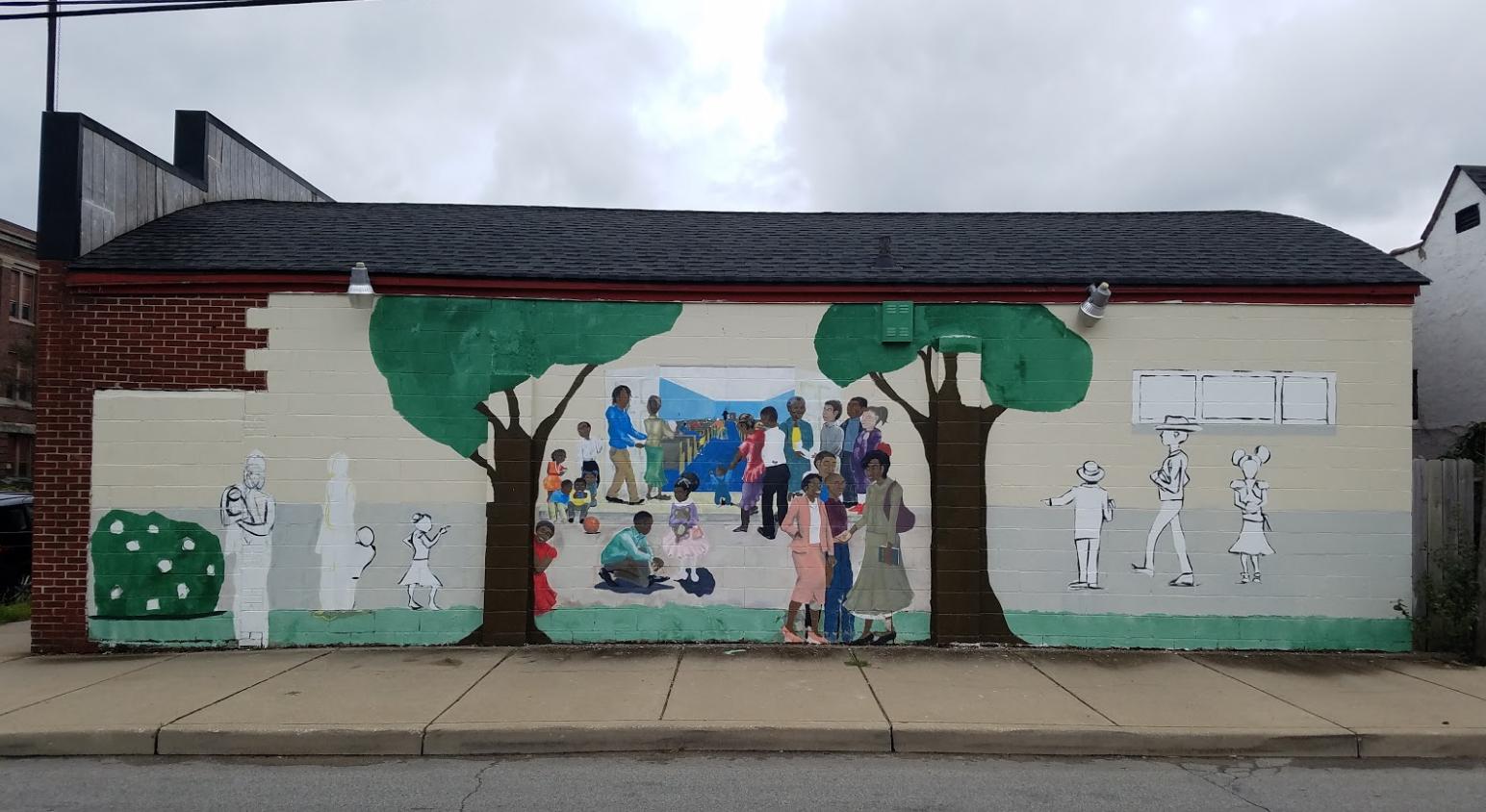 A Pre Enactment Mural At Monon 16 Harrison Center