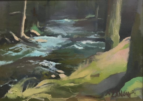 River at the Summit of Mt. Lacont, Alicia Zanoni