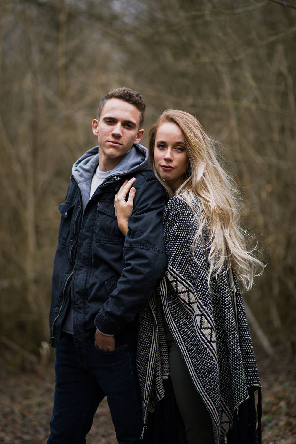 Shutter Up Studios | Engagement photographer in West Lafayette Indiana | Fall winter couples photo session in the woods at Prophetstown State Park