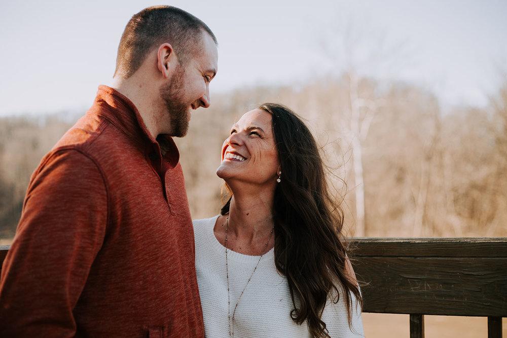 Shutter Up Studios | Wedding photographer in Crawfordsville Indiana | Golden hour engagement session at Sugar Creek Nature Park