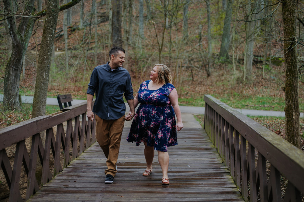 Shutter Up Studios   Engagement photographer in West Lafayette, Indiana   Rainy day couple at Happy Hollow Park
