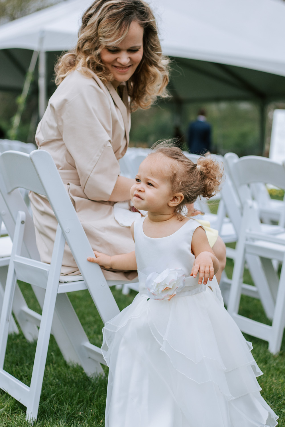 Shutter Up Studios   Wedding photographer in Pittsburgh, Pennsylvania   Floral country chic flower girl dress
