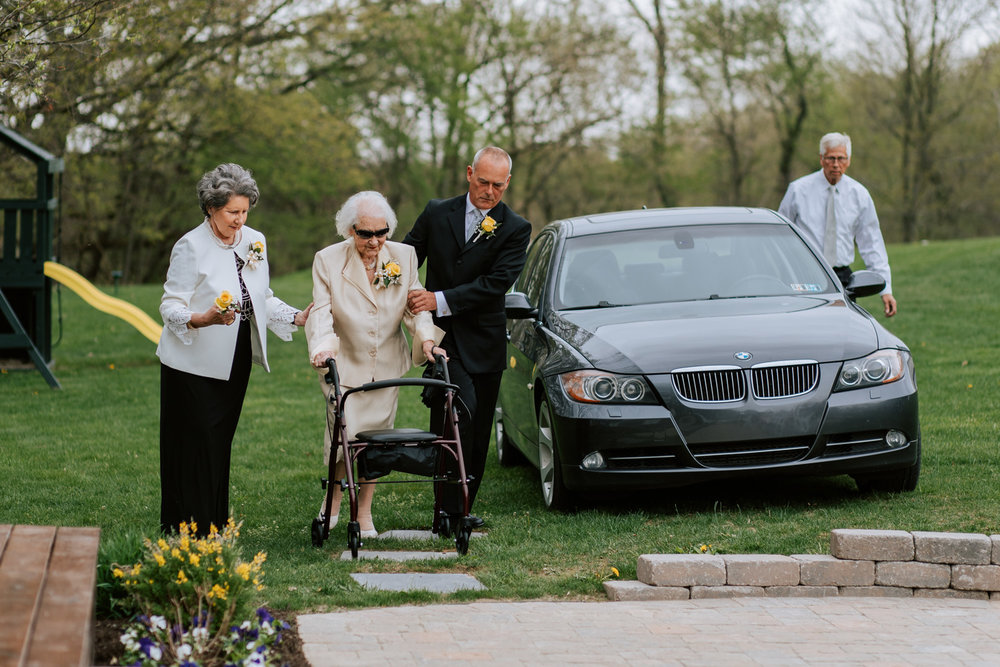 Shutter Up Studios   Wedding photographer in Pittsburgh, Pennsylvania   Rustic elegant country chic ceremony with grandma of the bride