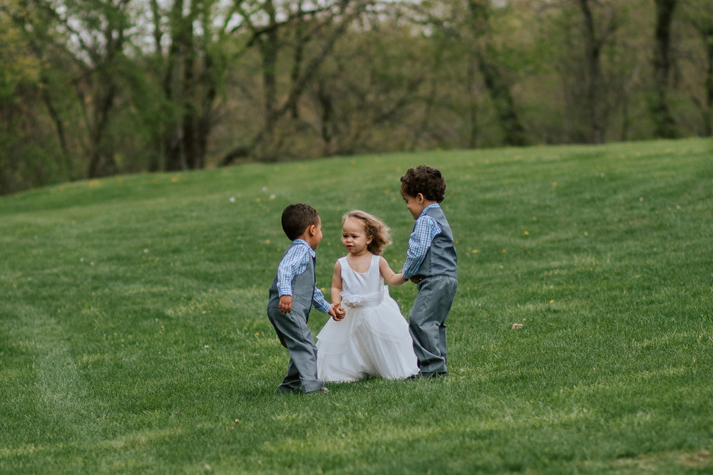 Shutter Up Studios   Wedding photographer in Pittsburgh, Pennsylvania   Outdoor rustic elegant country chic ceremony flower girl and ring bearers