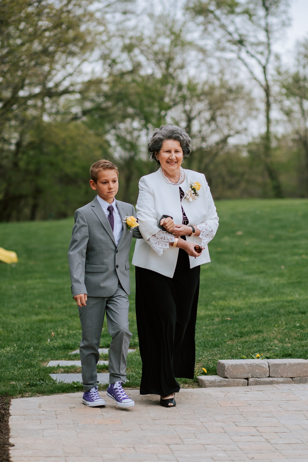 Shutter Up Studios   Wedding photographer in Pittsburgh, Pennsylvania   Outdoor rustic elegant country chic ceremony with purple Converse