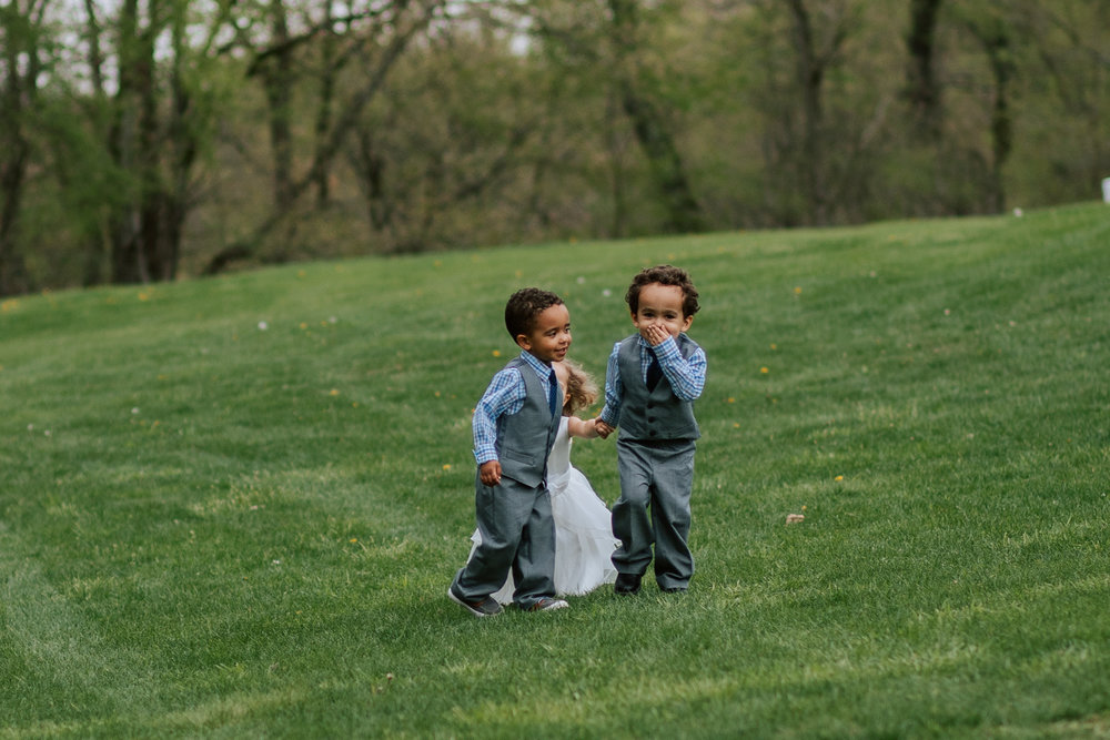 Shutter Up Studios   Wedding photographer in Pittsburgh, Pennsylvania   Outdoor rustic elegant country chic ceremony with flower girl and ring bearers