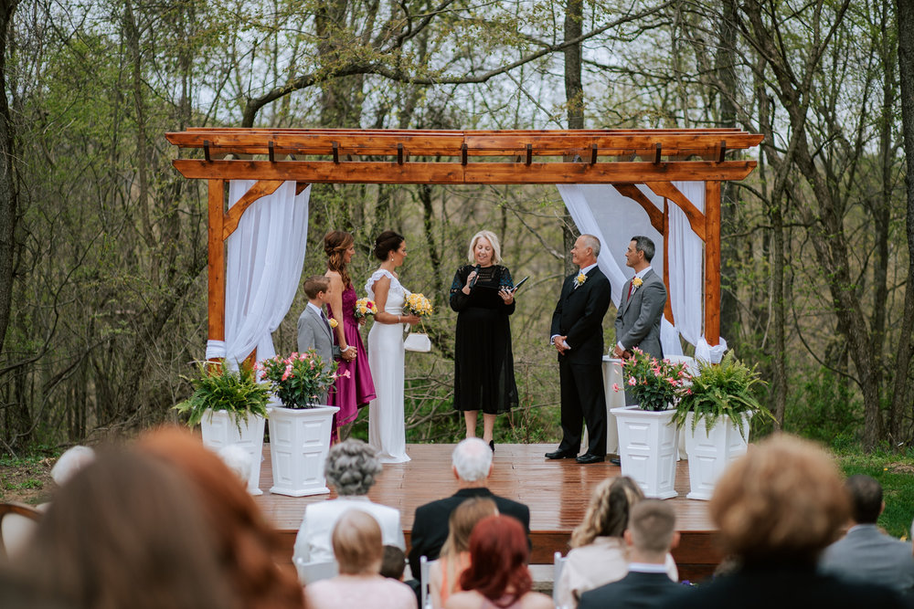 Shutter Up Studios   Wedding photographer in Pittsburgh, Pennsylvania   Outdoor rustic elegant country chic ceremony in the woods