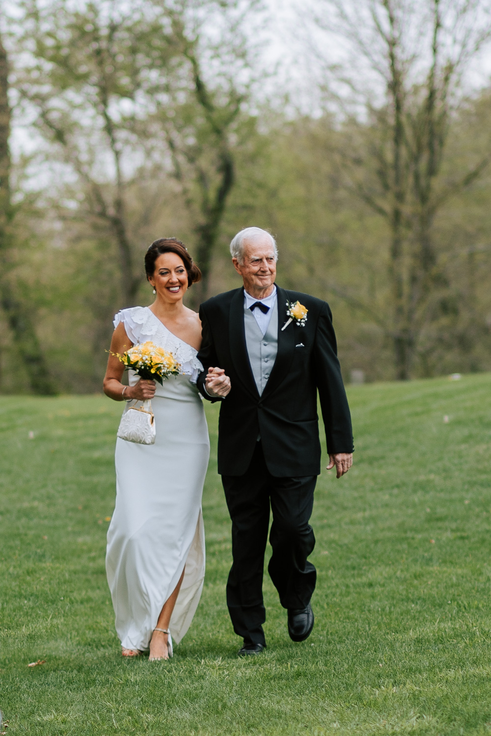 Shutter Up Studios   Wedding photographer in Pittsburgh, Pennsylvania   Outdoor rustic elegant country chic ceremony with father walking bride down the aisle