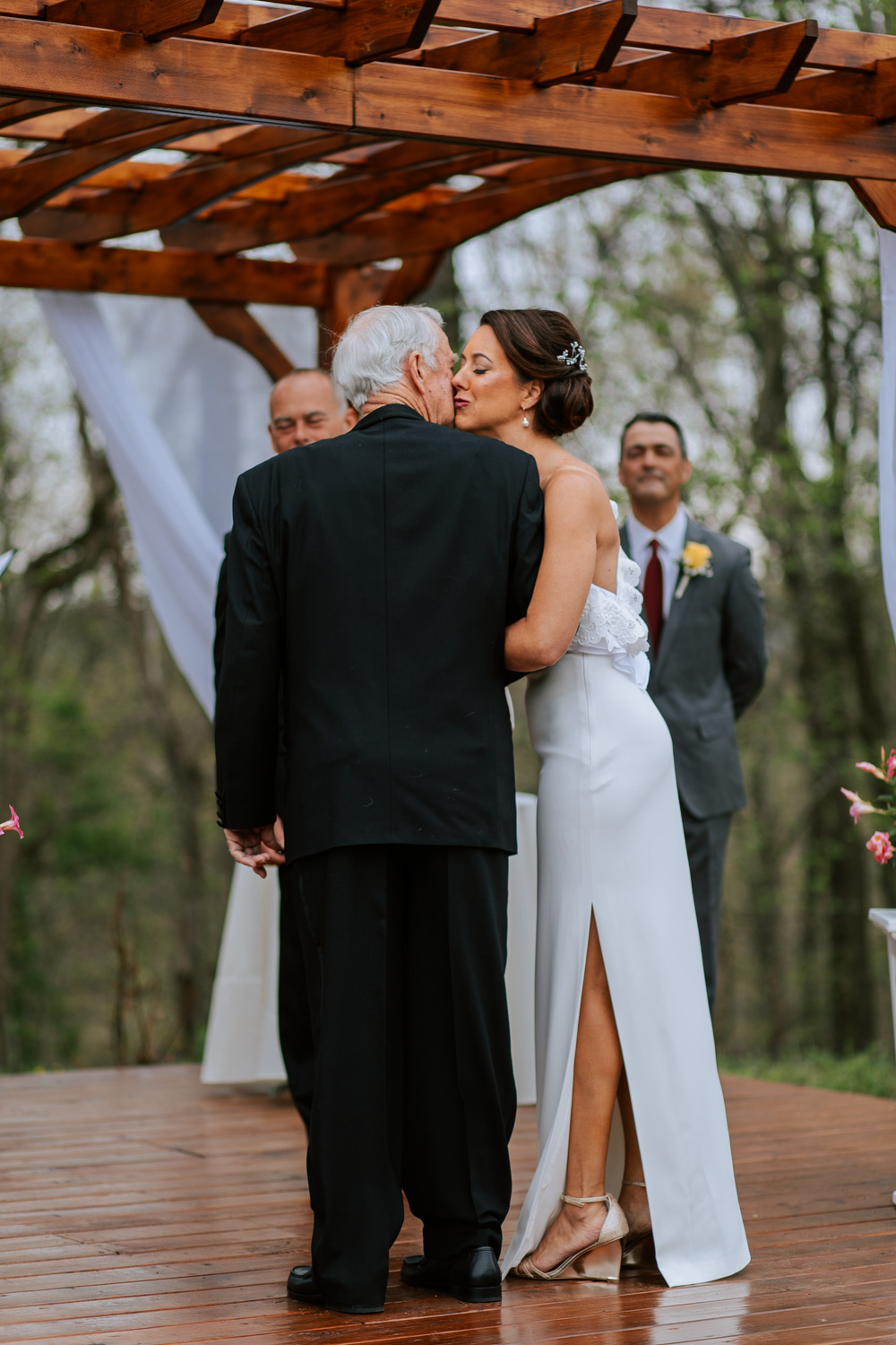 Shutter Up Studios   Wedding photographer in Pittsburgh, Pennsylvania   Outdoor rustic elegant country chic ceremony with father giving bride to groom