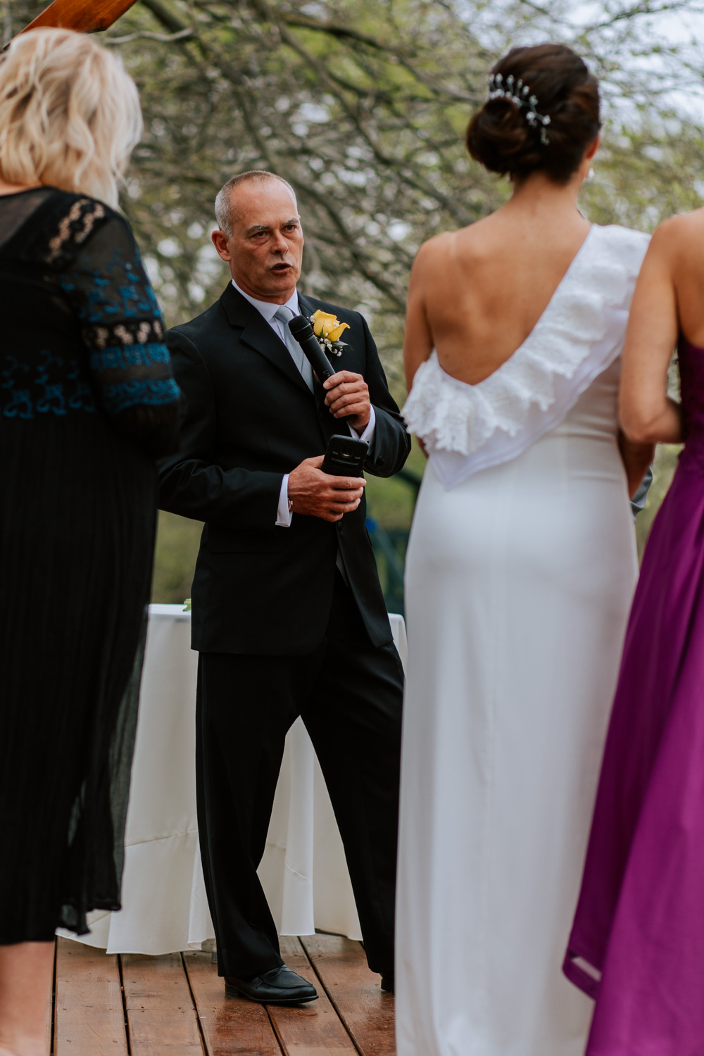 Shutter Up Studios   Wedding photographer in Pittsburgh, Pennsylvania   Outdoor elegant ceremony with groom reading vows