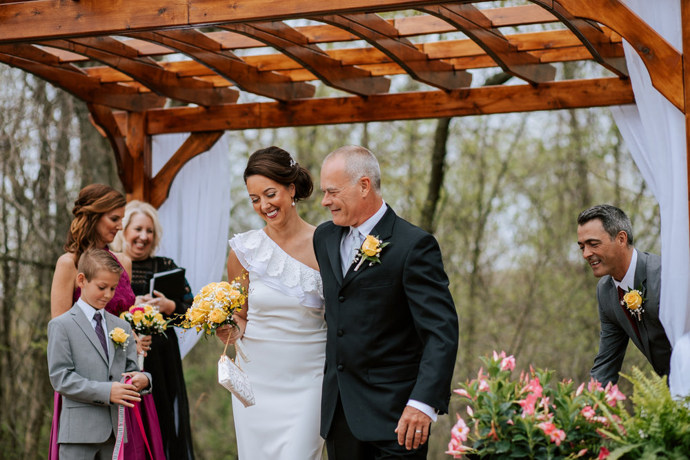 Shutter Up Studios   Wedding photographer in Pittsburgh, Pennsylvania   Outdoor rustic elegant country chic ceremony at home in the woods