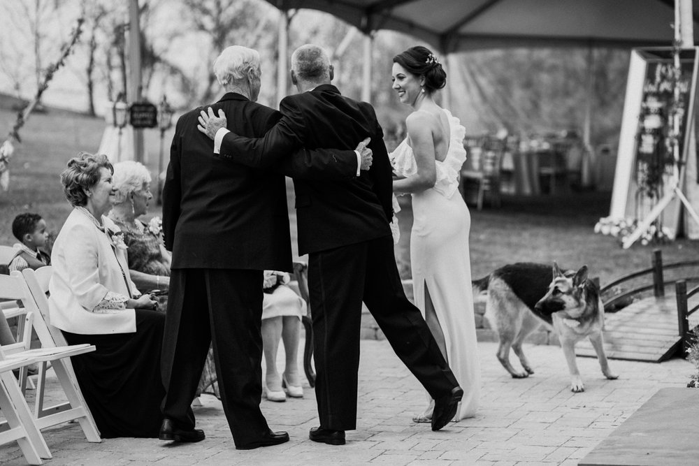 Shutter Up Studios   Wedding photographer in Pittsburgh, Pennsylvania   Black and white ceremony at home in the woods