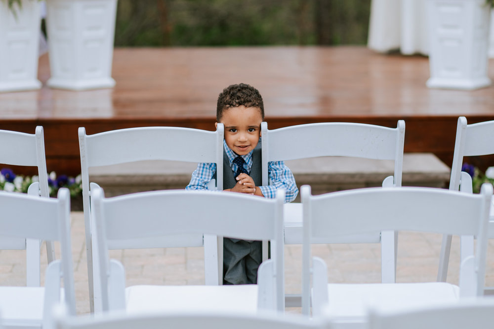 Shutter Up Studios   Wedding photographer in Pittsburgh, Pennsylvania   Elegant country chic white chairs at ceremony